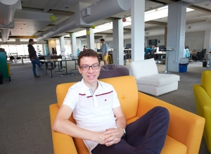 Luis Von Ahn in his offices in Pittsburgh, Pa