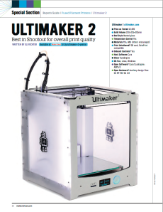 MAKE magazine 3d printer shootout